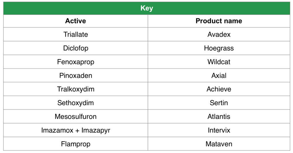 Herbicide active key