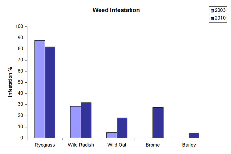 Bar chart weed infestation